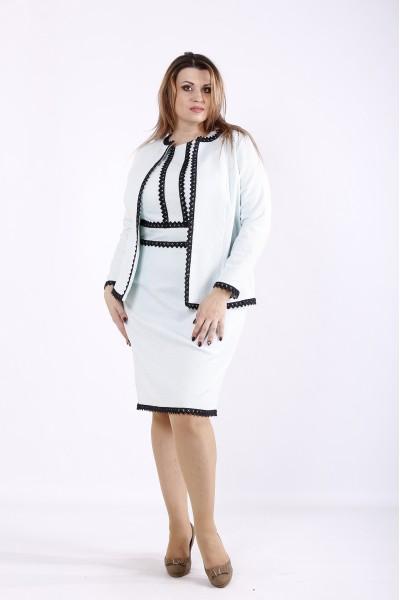 Фото Нарядный костюм: платье и жакет мята | 01267-2