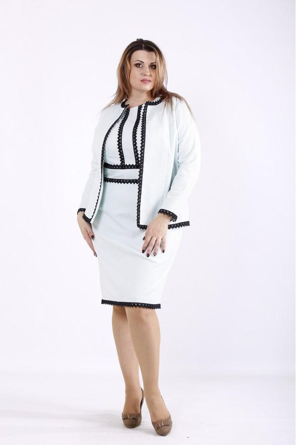 Фото Ошатний костюм: сукня і жакет м'ята | 01267-2