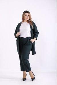 Фото Темно-зелений костюм: модні штани і піджак | 01270-3