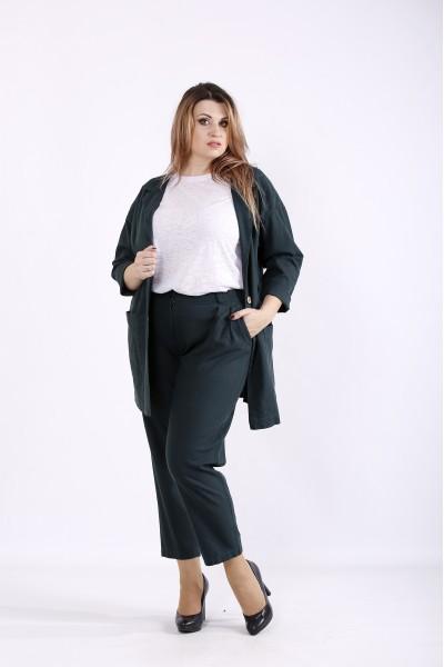 Фото Темно-зеленый костюм: модные брюки и пиджак | 01270-3