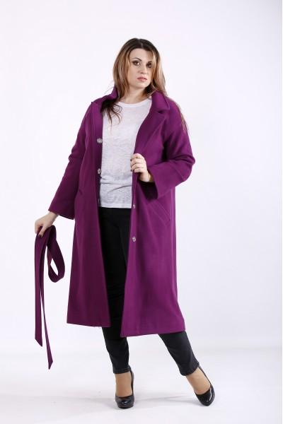 Фото Фіолетове пальто з кишенями | t01268-3