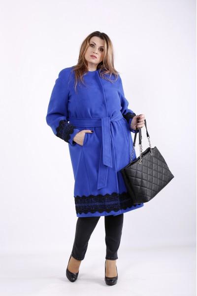 Фото Синє кашемірове пальто | t01269-2