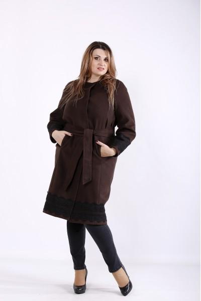 Фото Осіннє коричневе пальто | t01269-3
