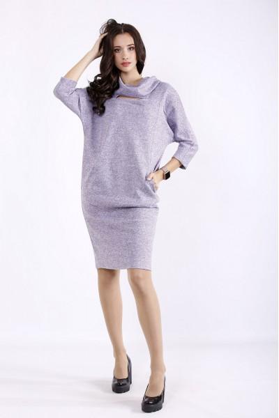 Фото Бузкове плаття до коліна   01272-1