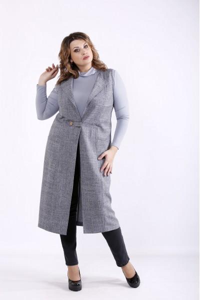 Фото Темно-серая модная жилетка | 01278-3