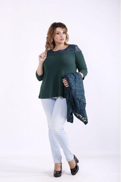 Фото Зеленый комплект: блузка и жакет | 01283-1