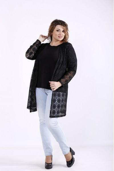Фото Черный комплект: жакет и блузка | 01283-3