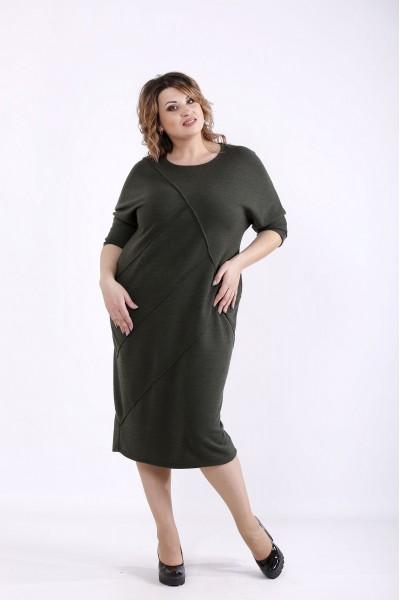 Фото Вільне плаття хакі | 01286-3