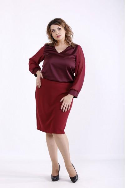 Фото Бордовая блузка | 01289-2