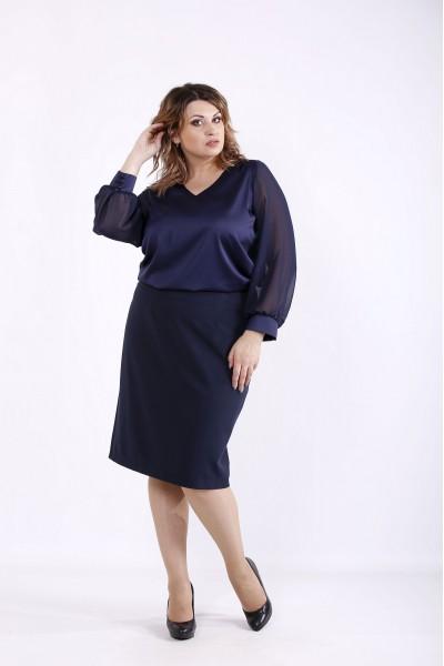 Фото Темно-синяя блузка | 01289-3