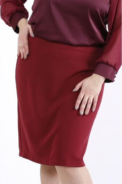 Фото Бордовая юбка | 01290-2