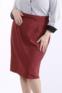 Фото Бордовая юбка | 01295-1