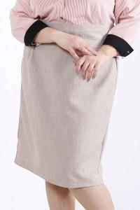 Фото Бежевая юбка | 01295-3