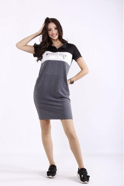Фото Темно-серое платье | 01296-1
