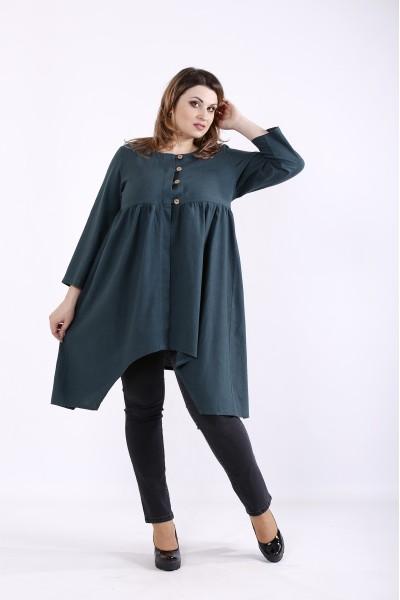 Фото Зеленая блузка из льна   01297-3