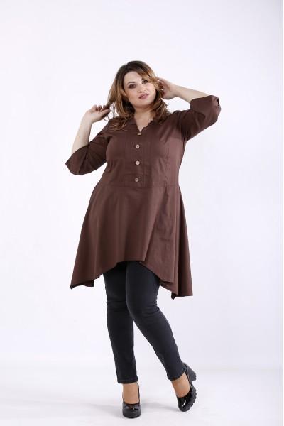 Фото Шоколадная блузка   01298-2