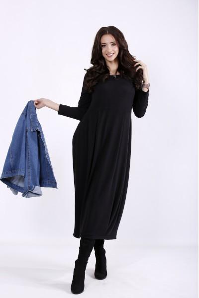 Фото Черное длинное платье | 01299-1