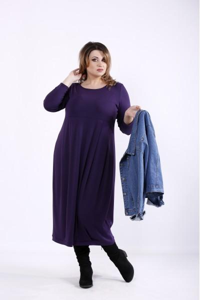 Фото Фиолетовое скрывающее платье | 01299-3