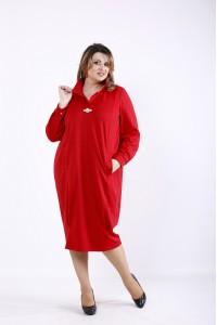 Фото Алое стройнящее платье | 01300-1
