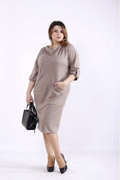 Фото Бежевое платье | 01302-3