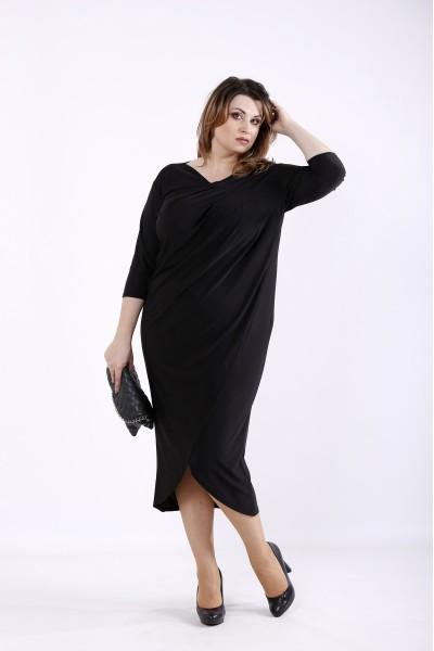 Фото Чорна гарна сукня   01303-1