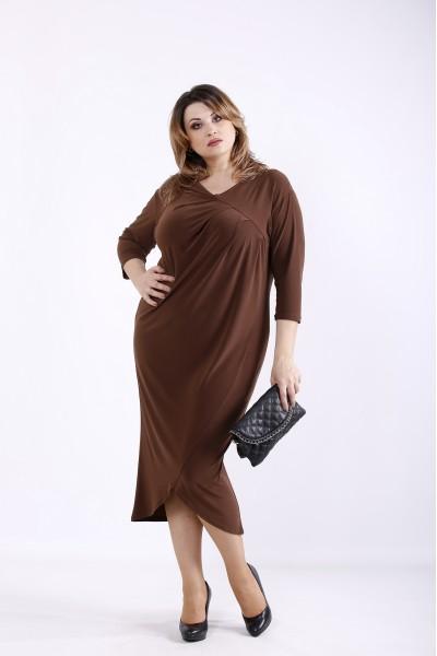 Фото Нарядное шоколадное платье | 01303-3