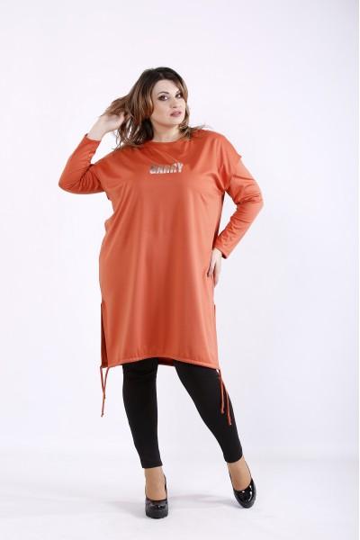 Фото Оранжевый костюм: кофта и жилетка | 01305-2