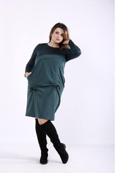 Фото Темно-зеленое платье | 01306-3