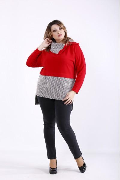 Фото Красная блузка | 01310-2