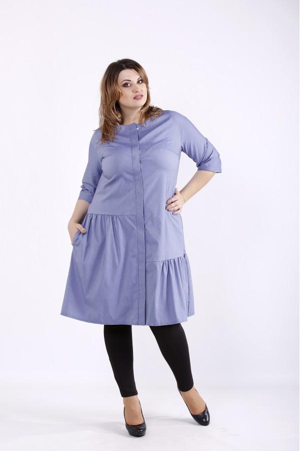 Фото Синее платье из бенгалина | 01312-2