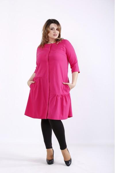 Фото Малиновое яркое платье | 01312-3