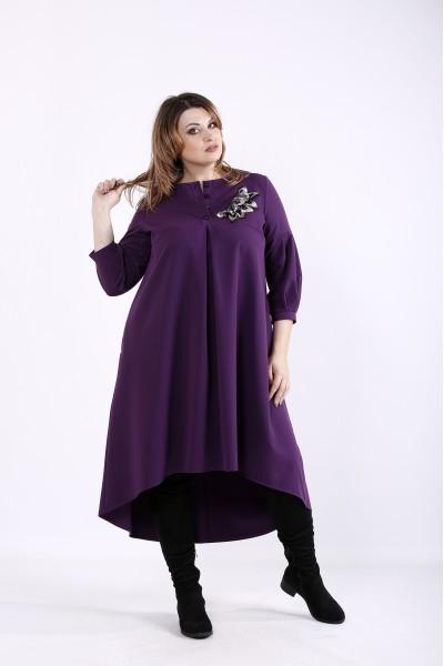 Фото Яркое пышное фиолетовое платье | 01314-1