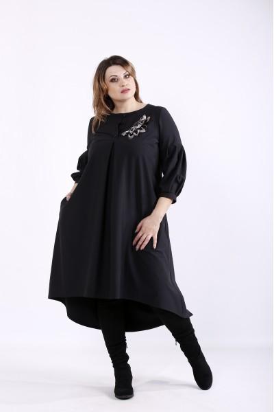 Фото Стильное и нарядное черное платье | 01314-2