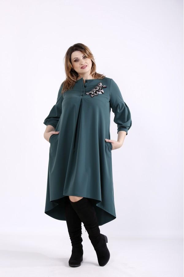 Фото Зеленое свободное платье | 01314-3