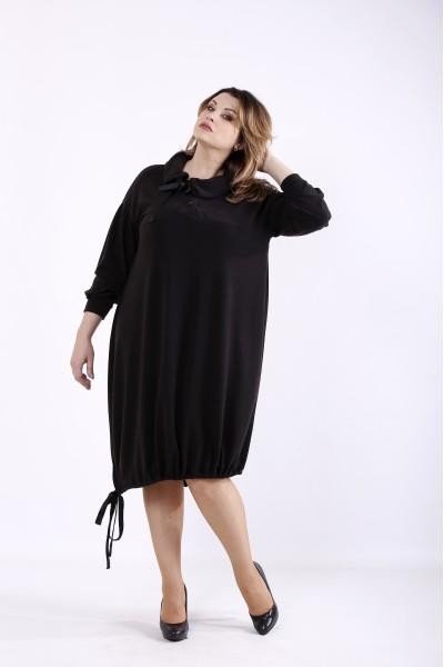 Фото Черное платье из ангоры | 01315-1