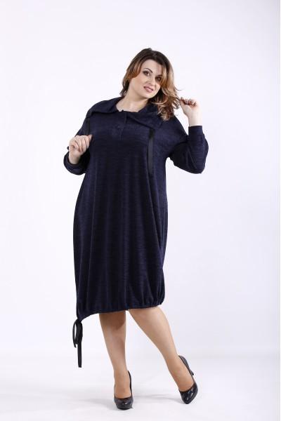Фото Оригинальное синее платье | 01315-2