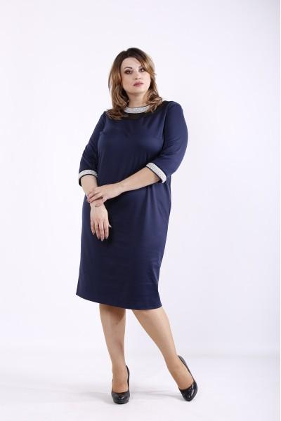Фото Темно-синее платье | 01317-1
