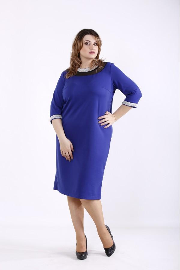 Фото Яркое синее платье | 01317-2