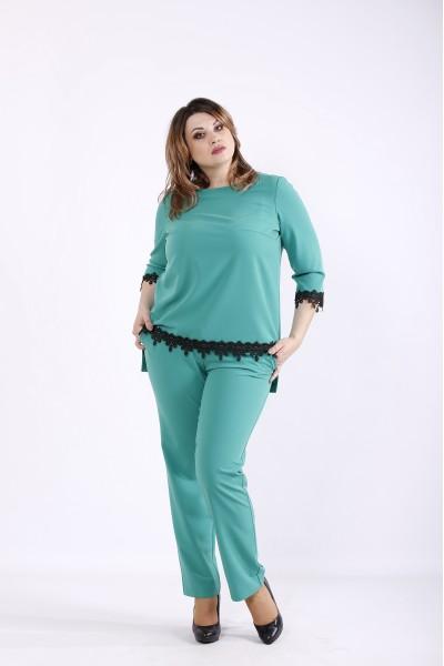 Фото Зеленый костюм: блузка и брюки | 01318-3