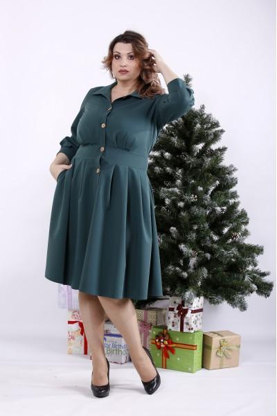 Фото Красивое темно-зеленое платье | 01320-2