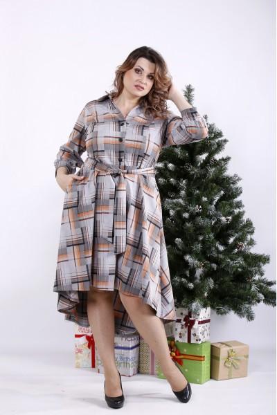 Фото Платье с коричневым узором | 01321-2