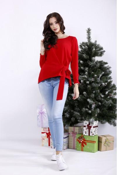 Фото Червона асиметрична блузка | 01328-1