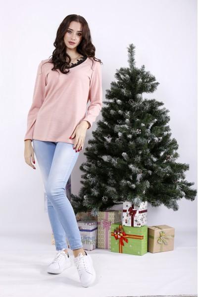 Фото Розовая блузка с кружевом | 01331-1