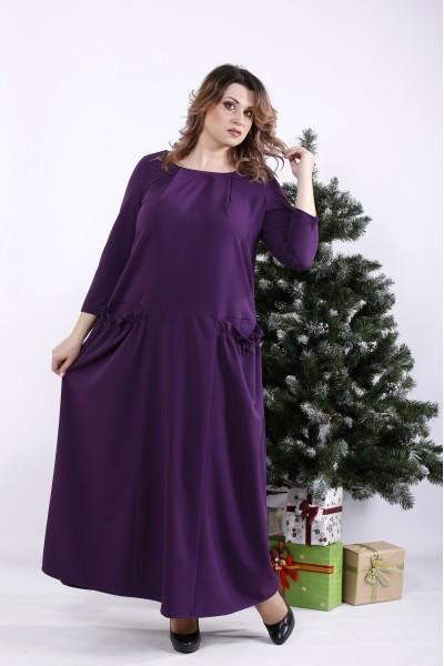 Фото Фіолетова довга сукня | 01333-1