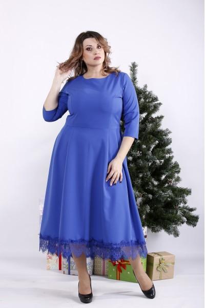 Фото Довга сукня електрик | 01338-1