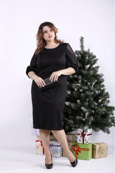 Фото Чорне стильне плаття | 01341-1