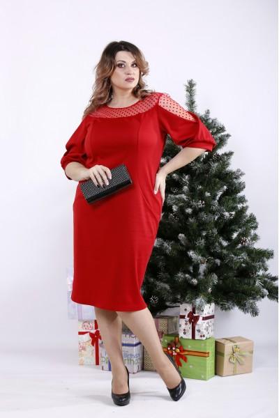 Фото Яскраво-червона сукня в підлогу з кишенями | 01341-2