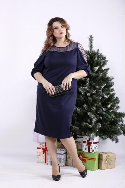 Фото Синя гарна сукня | 01341-3