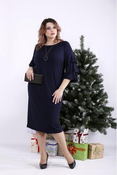 Фото Темне синє плаття | 01342-1