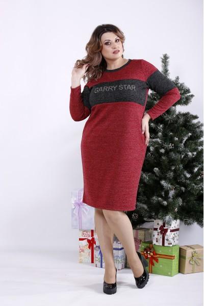 Фото Малинове плаття з ангори | 01343-3